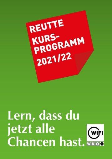 WIFI Reutte Kursprogramm 2021/22