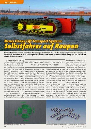 Neues Heavy Lift Transport System: Selbstfahrer auf Raupen