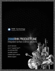 RHK General Product Brochure