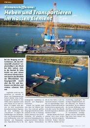 Binnenschiffkrane: Heben und transportieren im nassen Element