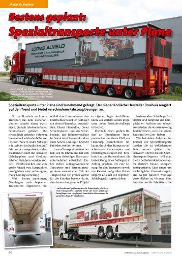 Bestens geplant: Spezialtransporte unter Plane - KM-Verlags