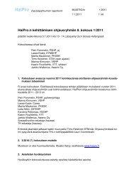 HaiPro:n kehittämisen ohjausryhmän 8. kokous 1/2011 - Awanic Oy