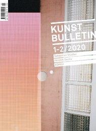 Kunstbulletin Januar/Februar 2020