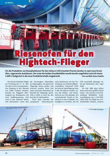 Riesenofen für den Hightech-Flieger
