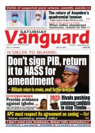 24072021 - Dont Sign PIB return it to NASS for amendment