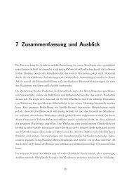7 Zusammenfassung und Ausblick - Ruhr-Universität Bochum