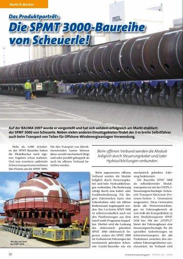 Das Produktporträt: Die SPMT 3000-Baureihe von Scheuerle