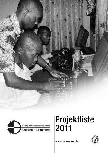 41 Projekte im Jahr 2011 - Solidarität Dritte Welt