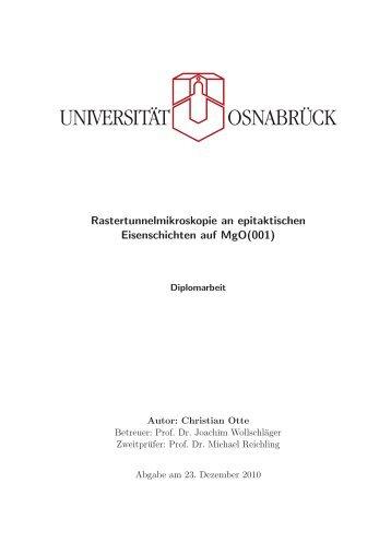 Rastertunnelmikroskopie an epitaktischen Eisenschichten auf MgO ...