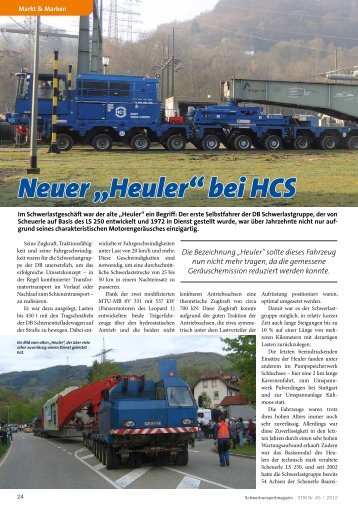 """Neuer """"Heuler"""" bei HCS - KM-Verlags GmbH"""