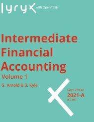 Intermediate Financial Accounting Volume 1, 2021