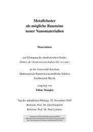 Clustern - KOPS - Universität Konstanz