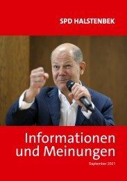 SPD Halstenbek – Informationen und Meinungen – September 2021