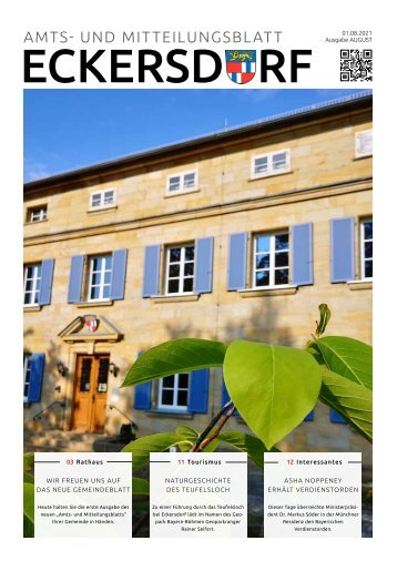 Eckersdorf Amt- und Mitteilungsblatt August 2021
