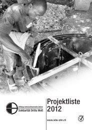40 Projekte im Jahr 2012 - Solidarität Dritte Welt