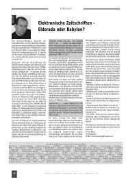Elektronische Zeitschriften - E-Lis