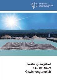 Geotechnik/Bergbau - CO2-neutraler Gewinnungsbetreb