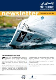 St. Moritz Match Race - Newsletter - Sailing on the top of the world.