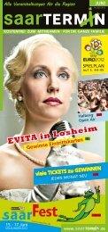 EVITA in Losheim Gewinne Eintrittskarten - erlebnistermin