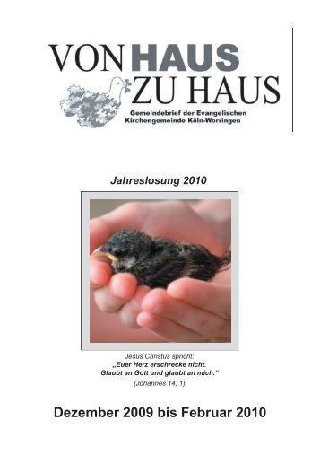 Dezember 2009 bis Februar 2010 - Evangelische Kirchengemeinde ...