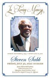 Steven Sabb Memorial Program