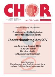 Chorverbandstag des SCV - Saarländischer Chorverband