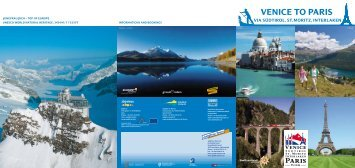 VENICE TO PARIS - Venice - St. Moritz Tour