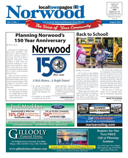 Norwood August 2021