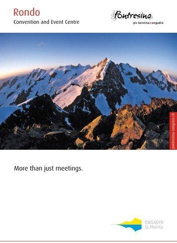 "Congress brochure ""More than just meetings"" (PDF 2.1 - Pontresina"