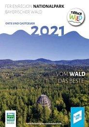 Gastgeberverzeichnis Nationalpark Bayerischer Wald