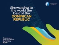Corporate Management Summary 2020: Showcasing to the world the best of the Dominican Republic