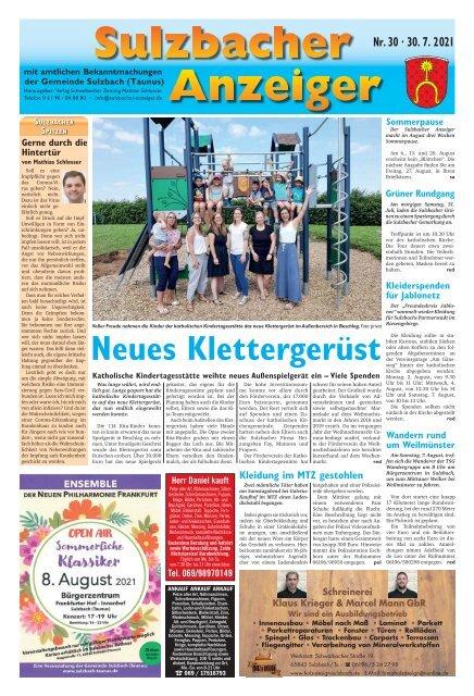 Sulzbacher Anzeiger Ausgabe Kw 30-2021