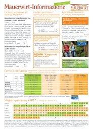 Mauerwirt Prezzi & Info Estate 2012 - Hotel Eschenhof