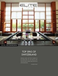 TOP SPAS OF SWITZERLAND - Elite Traveler