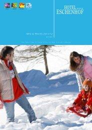 Christmas packages - Hotel Eschenhof