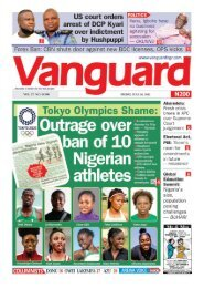 30072021 - Outrage over ban of 10 Nigerian atnhletes