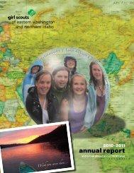 annual report - Girl Scouts Eastern Washington & Northern Idaho