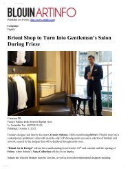 Brioni Shop to Turn Into Gentleman's Salon During ... - Francis Sultana