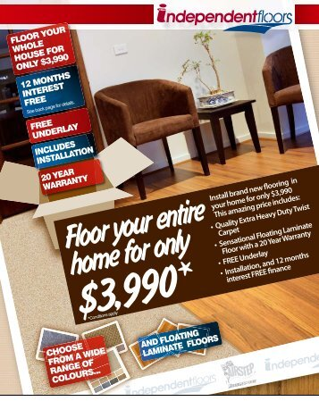 Floor your entire home for only - Delta Carpets and Vinyls