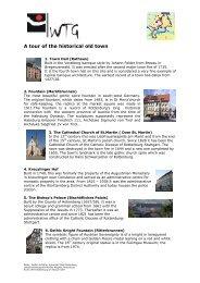 A tour of the historical old town - WTG Rottenburg am Neckar mbH
