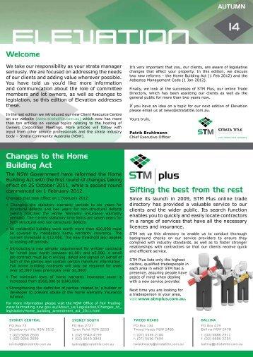 plus STM - Strata Title Management