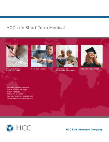 2009 HCC Life Short Term Medical Plan - Insurance Services of ...