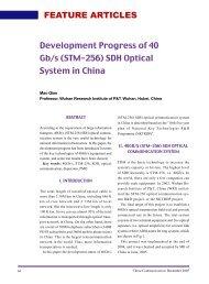Development Progress of 40 Gb/s (STM-256) SDH Optical System in ...