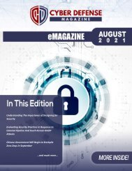 Cyber Defense eMagazine August Edition for 2021
