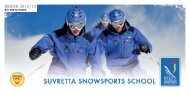 Price list 2012/13 - Suvretta Snowsports School