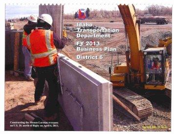 FY 2013 District 6 Business Plan - Idaho Transportation Department