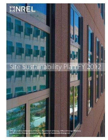 Site Sustainability Plan FY 2012 (Management Report), NREL ...