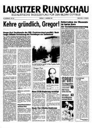 Titelseite der LAUSITZER RUNDSCHAU vom 11. Dezember 1989