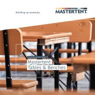 Mastertent Tables and Benches Full Catalog 2021