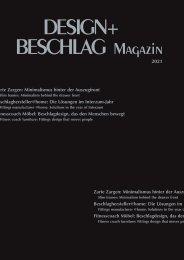 DESIGN+BESCHLAG Magazin 2021